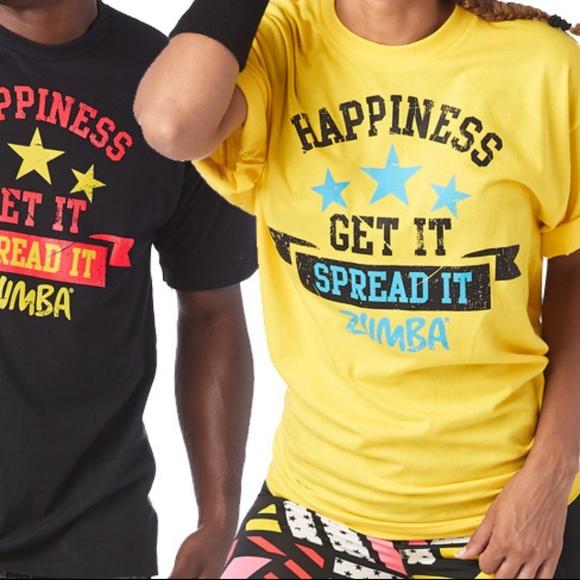 Zumba T-shirt Yellow